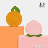 未卡橘子桃子吸盤貓抓板墻貼耐磨耐抓磨爪器防抓沙發貓咪玩具用品 電購3C