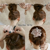 新品韓式丸子頭盤發器造型器懶人頭飾珍珠花朵燒邊盤發神器發飾 海港城