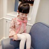 女童襯衫春裝韓版喇叭袖雪紡襯衣