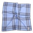 renoma經典大格紋男士純綿帕巾(水藍色)989063-243
