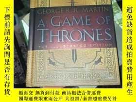 二手書博民逛書店A罕見Game of Thrones: The 20th Anniversary Illustra【英文原版精裝】