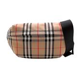 【台中米蘭站】全新品 BURBERRY Vintage 格紋拉鍊腰包(8010430-卡其)