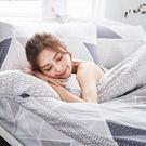 床包 / 雙人加大【北歐菱線】含兩件枕套  60支天絲  戀家小舖台灣製AAU301