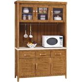 櫥櫃餐櫃FB 336 1 愛莉絲柚木4 2 尺碗櫃組【大眾家居舘】