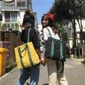 一件85折-後背包書包女校園小清新帆布後背包女新品正韓學生森系方款百搭背包