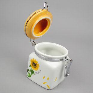 現代簡約 陶瓷密封 向日葵 調味盒套裝