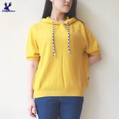 【秋冬降價款】American Bluedeer - 抽繩連帽短袖針織衣(魅力價) 秋冬新款