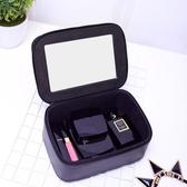 化妝包小號便攜韓國簡約小方包化妝品收納包盒
