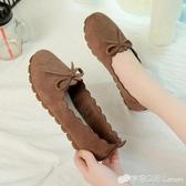 豆豆鞋 春季網鞋透氣絨布單鞋老北京布鞋孕婦軟底豆豆鞋平底單鞋女鞋 檸檬衣舍