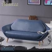 【BOCELLI】SAGGEZZA智慧風尚沙發3seat(義大利牛皮)優雅深藍