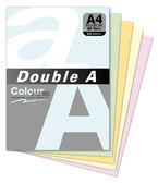 Double A 80gsm A4色紙/500張