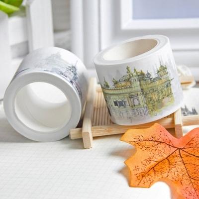 和紙膠帶 貼紙-夢幻城堡可手撕創意膠帶73pp581【時尚巴黎】