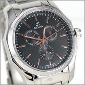 【萬年鐘錶】SIGMA日系 三眼時尚錶 1018M-1G