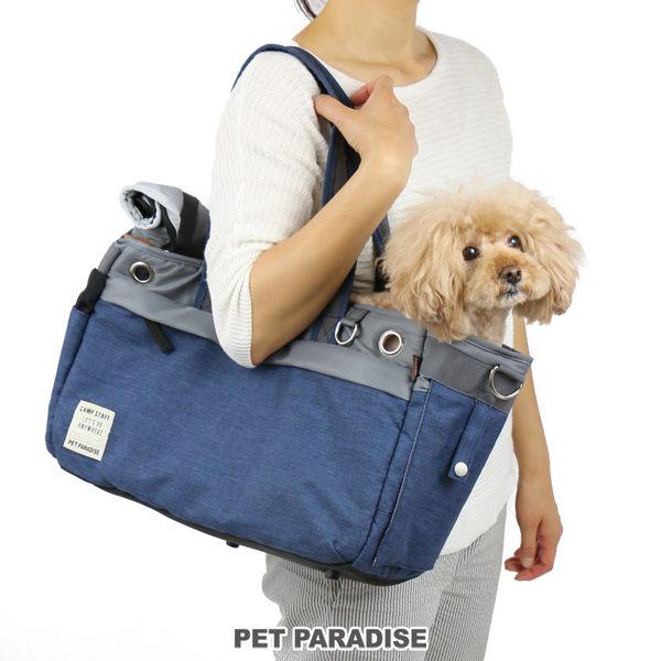 【PET PARADISE 寵物精品】PP 單肩外出包-藍色【大4~8kg】  寵物外出包