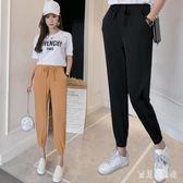 燈籠褲韓版女夏裝薄款寬鬆休閒雪紡束口九分運動褲 QX3435 『寶貝兒童裝』