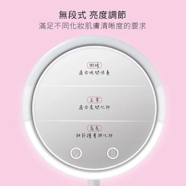 【KINYO】LED五合一風扇化妝鏡 BM-088