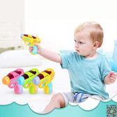 玩具槍 1-2-3歲小孩迷你投影電動槍聲光男孩塑料耐摔兒童警察寶寶玩具槍T