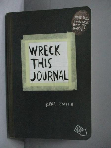 【書寶二手書T7/原文書_MKX】Wreck this Journal_Keri Smith