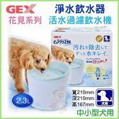 『寵喵樂旗艦店』日本GEX《犬用-花見系列淨水飲水器2.3公升》附濾網一片