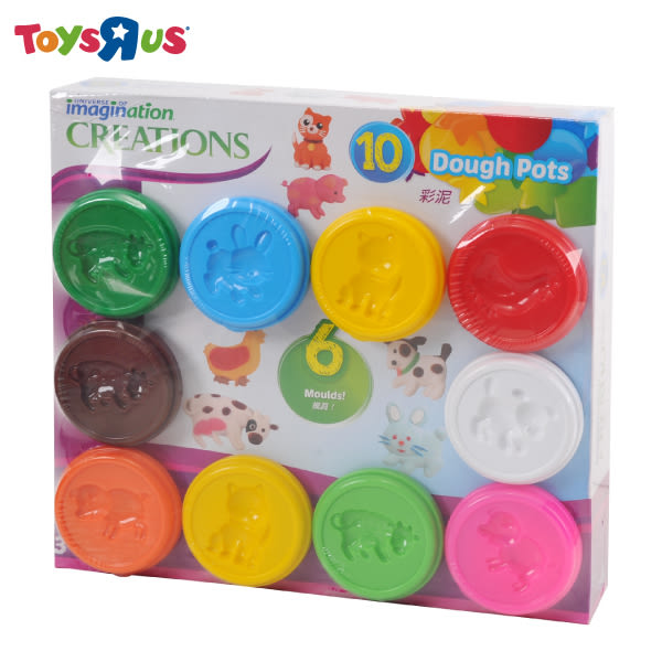 玩具反斗城【 UNIVERSE IMAGINATION】10罐入小巧黏土組