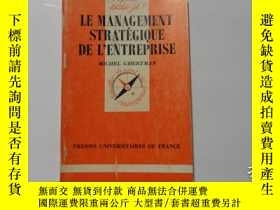 二手書博民逛書店法文原版罕見LA MANAGEMENT STRATEGIQUE