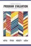 二手書博民逛書店 《Program Evaluation: An Introduction》 R2Y ISBN:0534508278│DavidRoyse