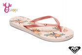 ROXY PORTOFINO II 成人女款 拖鞋 品牌印花 海灘 人字拖 夾腳拖 K9486#粉紅◆OSOME奧森鞋業