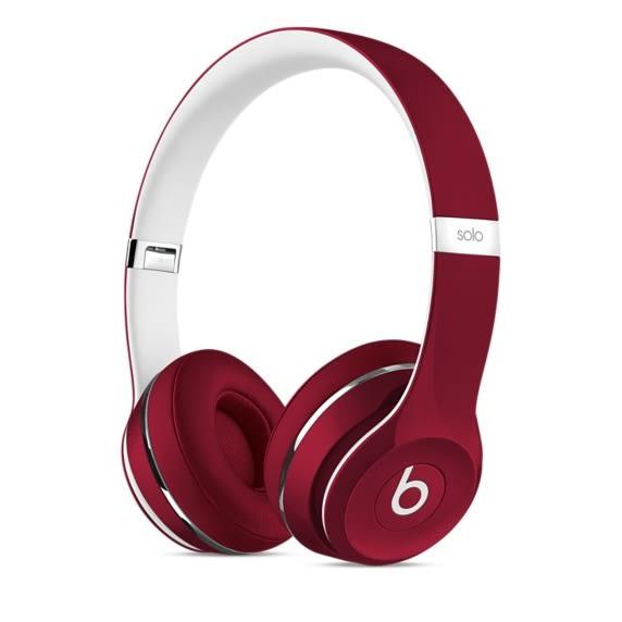 【台中平價鋪】潮牌首選 Beats Solo2 Luxe 耳罩式耳機 - 紅 時尚潮流感 先創公司貨 一年保固