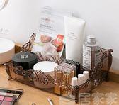 收納 梳妝臺透明化妝品面膜收納盒 桌面口紅整理盒護膚品置物架