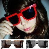 5天出貨★太陽鏡 格子方框墨鏡 防紫外線眼鏡★ifairies【19051】