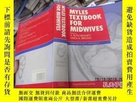 二手書博民逛書店myles罕見textbook for midwives 870