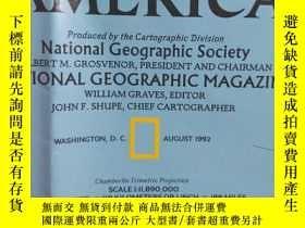 二手書博民逛書店National罕見Geographic國家地理雜誌地圖系列之1992年8月 South America 南美洲地