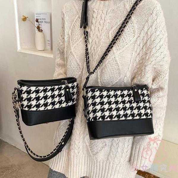 水桶包小包包女高級鏈條包質感單肩斜挎包【少女顏究院】