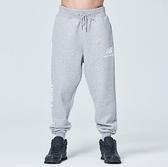 NEW BALANCE Lifestyle 男款灰色針織刷毛束口長褲-NO.AMP83525AG