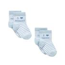 mothercare 藍條紋愛男嬰襪2入-小小探險(M1NA042)新生兒、06M、12M、2A