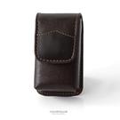 眼鏡盒 咖啡色皮革老花眼鏡盒 柒彩年代【NYB3】