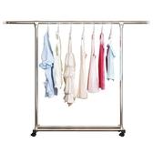 單桿式不銹鋼晾衣架落地折疊臥室內陽臺家用簡易涼衣服曬架子掛桿 琉璃美衣