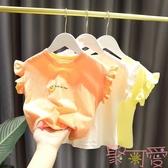 短袖t恤薄款女童上衣嬰兒童純棉韓版休閒【聚可愛】