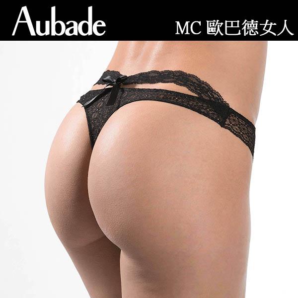 Aubade-歐巴德女人M-L復古網織丁褲(黑)MC