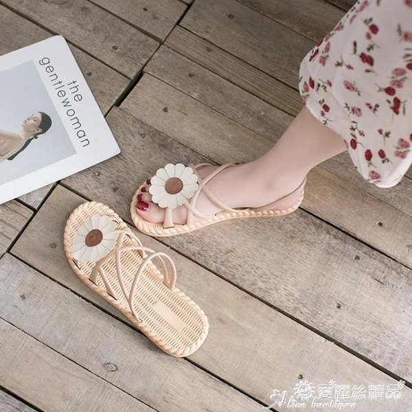 平底鞋 2020年夏季新款學生百搭ins潮平底羅馬女鞋時尚仙女風女士涼鞋女 愛麗絲
