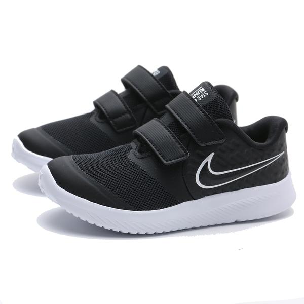 NIKE 休閒鞋 STAR RUNNER 2 黑白 魔鬼氈 輕量 運動鞋 小童 (布魯克林) AT1803-001