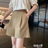 港味西裝短褲女2020夏裝新款五分褲寬鬆顯瘦直筒褲薄款休閒工裝褲