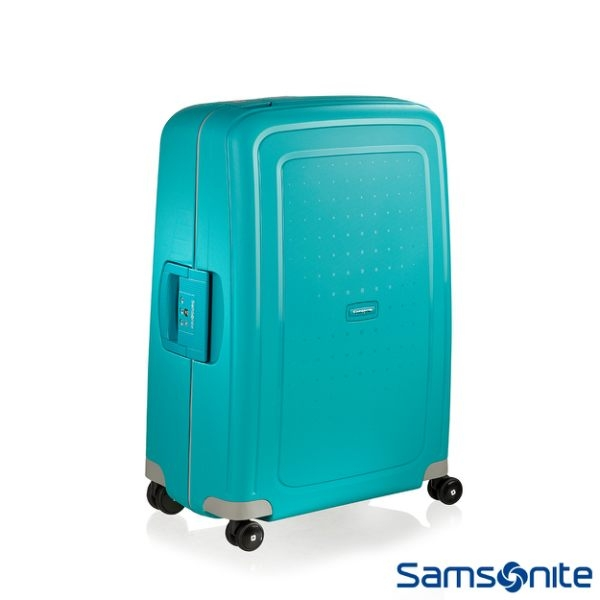 Samsonite 新秀麗 (特惠價5折)S'CURE 四輪 PP硬殼TSA扣鎖行李箱-25吋(水藍)