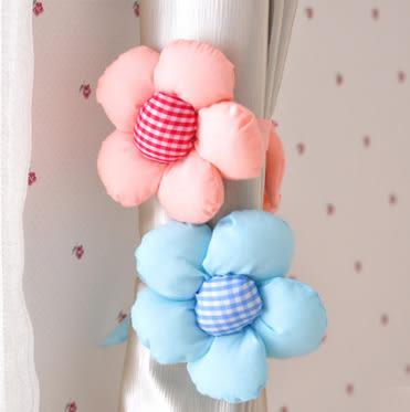 創意太陽花朵窗簾綁帶 窗簾扣 (顏色隨機)