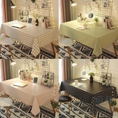 桌布防水防油免洗桌墊餐桌布藝書桌防燙北歐【極簡生活】