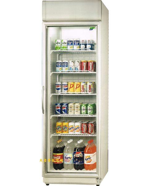瑞興玻璃冷藏展示櫃/台製冰箱/飲料櫃/冷藏櫃/單門玻璃冷藏櫃407公升/大金餐飲設備