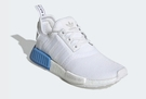 ISNEAKERS ADIDAS NMD R1 BOOST 全白 藍尾 白藍 女款 Ee6677