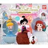 全套3款【日本正版】迪士尼公主 環保扭蛋 扭蛋 轉蛋 花木蘭 艾莉兒 仙杜瑞拉 造型轉蛋 - 563396