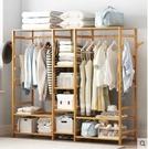 衣櫃 簡易衣櫃簡約現代經濟型組裝家用小戶型楠竹櫃子 mks韓菲兒