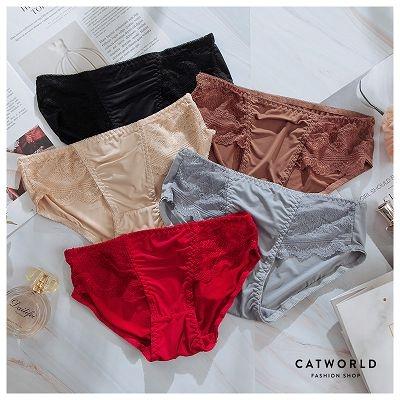 Catworld 巴黎夜曲。蕾絲刺繡低腰內褲【18806068】‧F